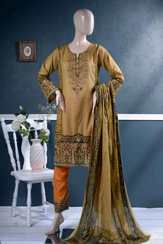 Un-stitched Lawn Printed Dress with Printed Lawn Dupatta (AZ-1B) External Flame