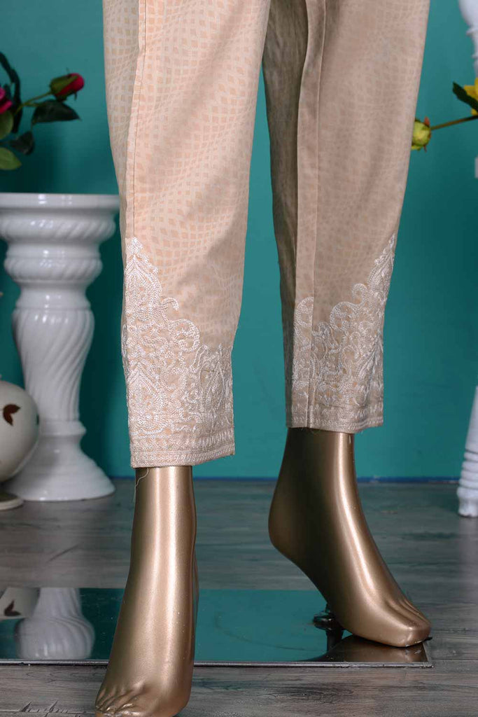 Cambric Printed & Embroidered Trouser | Brio (GP-25C)