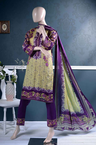 Un-stitched Lawn Printed Dress with Printed Lawn Dupatta (AZ-2A) Orchids