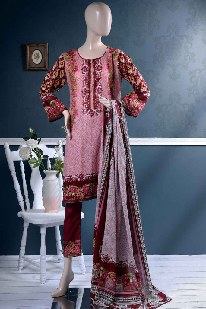 Un-stitched Lawn Printed Dress with Printed Lawn Dupatta (AZ-2B) Orchids