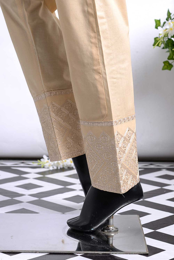 Cambric Embroidered Trouser | Cube Bottom Skin (GP-28C)