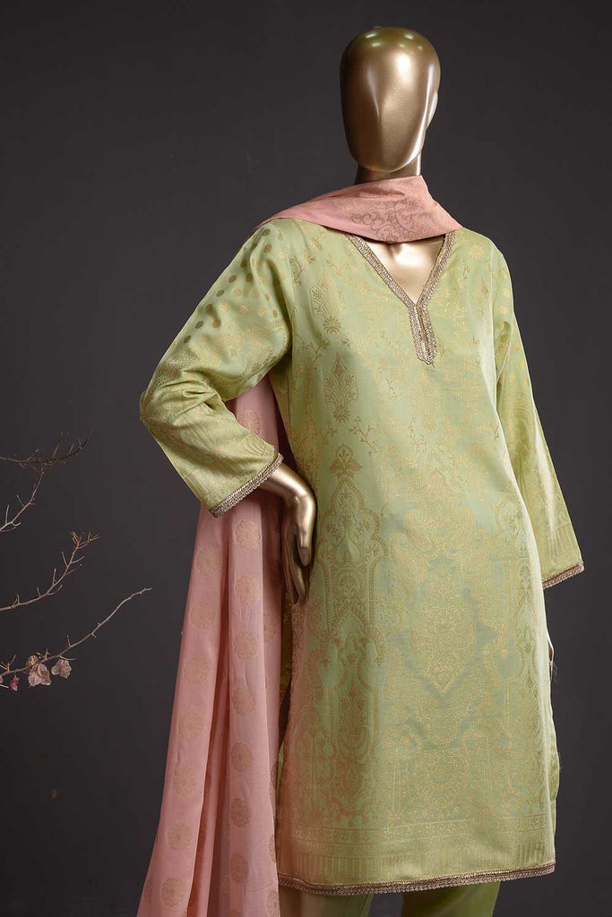 Rain Forest (BD-01) 3-Piece Un-stitched Jacquard Banarsi Lawn Dress