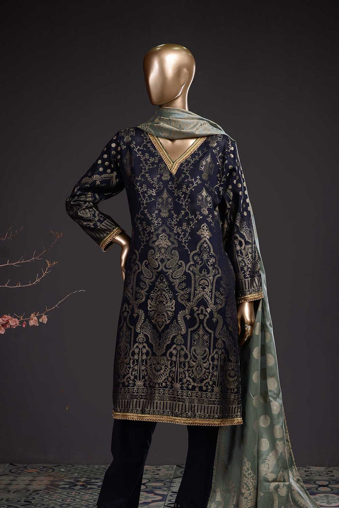 Imperial (BD-02) 3-Piece Un-stitched Jacquard Banarsi Lawn Dress