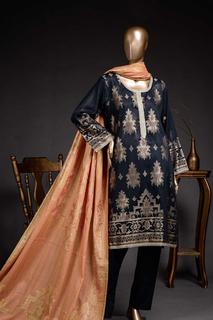 Regulus (BD2-10) 3-Piece Un-stitched Jacquard Banarsi Lawn Dress