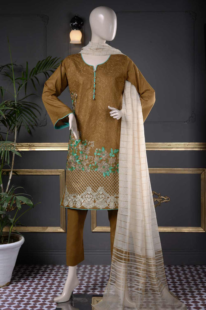 Floral Mist (LBZ-1B) | Embroidered Un-stitched Jacquard Lawn Dress with Mysoori Dupatta