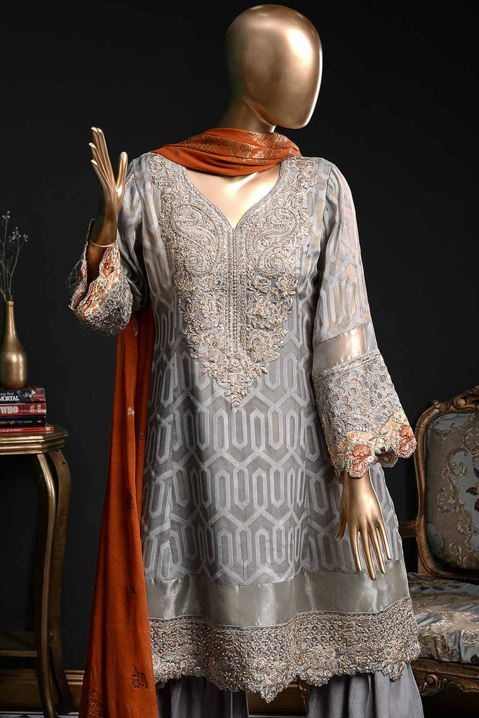 Serenity (EM-2A) | 3 Pc Mysoori Embroidered Dress with Handicraft Pearl work