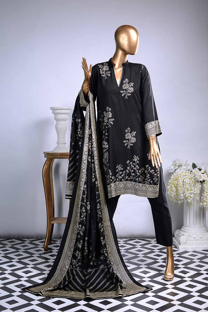 Pure Charisma (LW-1B) | 3 Pc Unstitched Printed Linen Dress