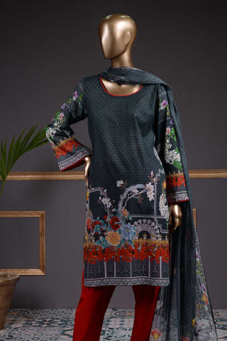 Burgeoning Bud (NL-03) 3 Piece Un-stitched Lawn Digital Printed Dress
