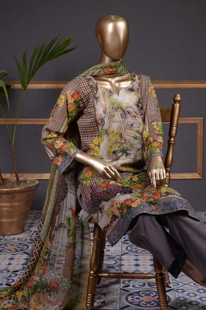 Corsage (NL-04) 3 Piece Un-stitched Lawn Digital Printed Dress
