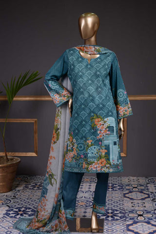 Color Pop (NL-07) 3 Piece Un-stitched Lawn Digital Printed Dress