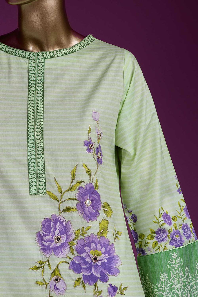 Cosmos (PR2-02) Lawn Un-stitched Digital Printed & Hand Embroidered Kurti