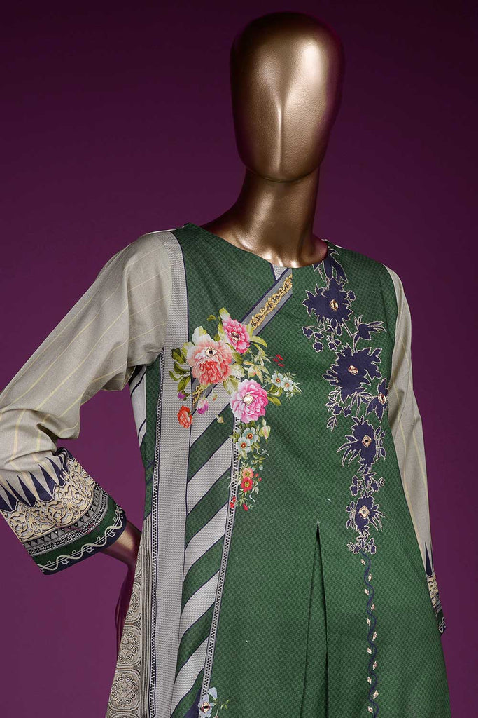 Subtle Art (PR2-07) Lawn Un-stitched Digital Printed & Hand Embroidered Kurti