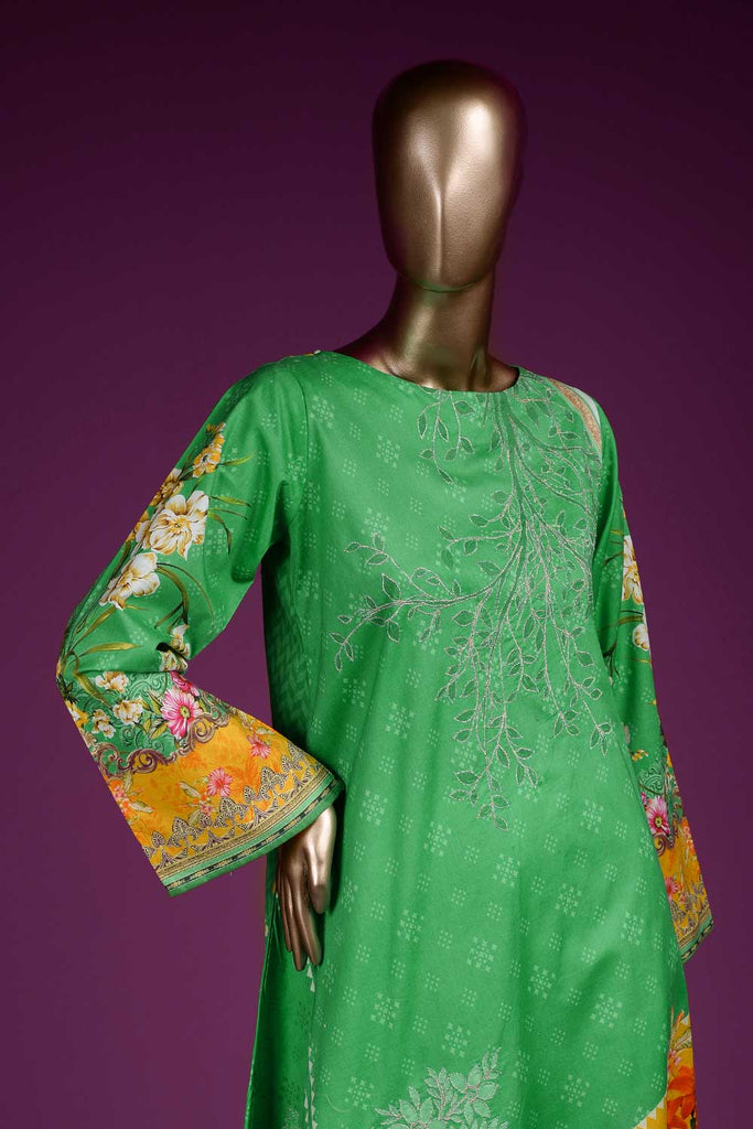 Scenic View (PR2-08) Lawn Un-stitched Digital Printed & Hand Embroidered Kurti