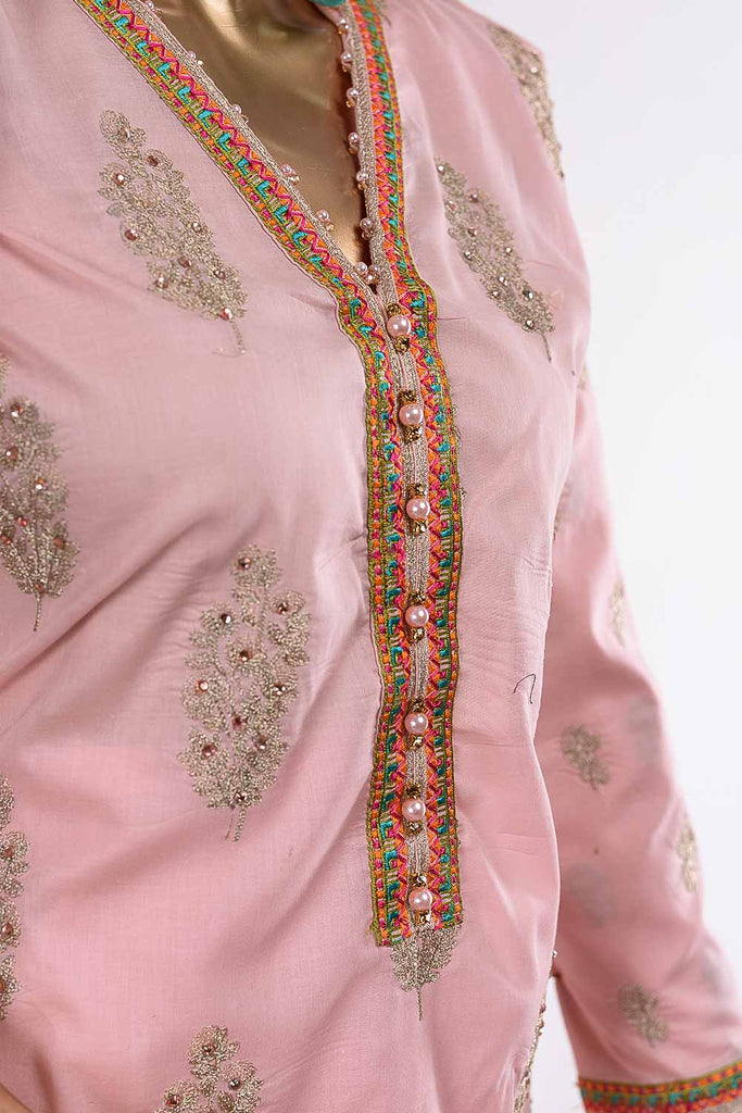 Periwinkle (R20-C14-L) - Lawn Semi-stitched Embroidered Dress