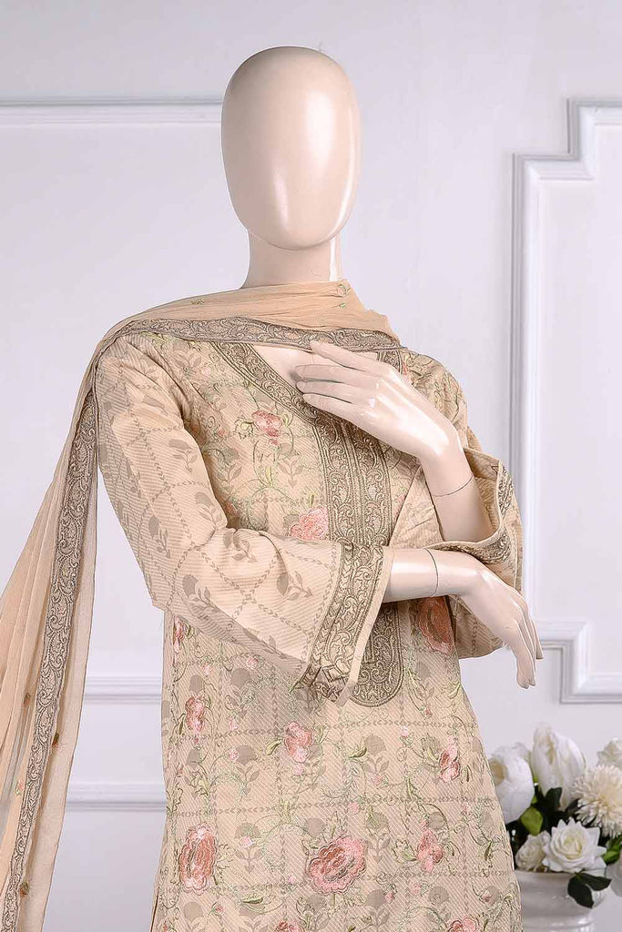 Umbrella (SC-19A-Skin) Embroidered Un-Stitched Cambric Dress With Chiffon Dupatta