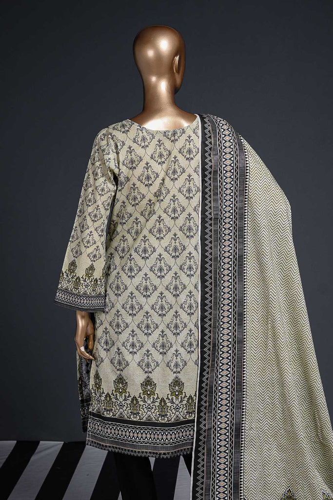 Black Ferrero (SC-96A-LightGreen) Embroidered Cambric Dress with Lawn Dupatta