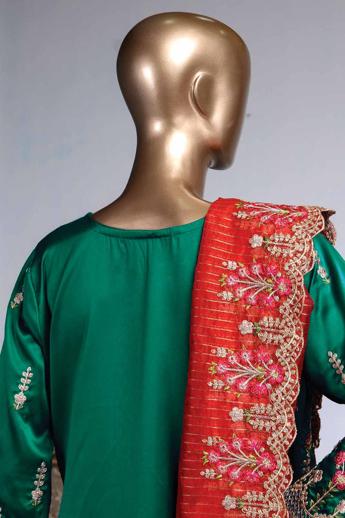 Blooming Antheia (ZS-02) | 3 Pcs Un-stitched Embroidered Silk Dress with Embroidered Mysoori Dupatta