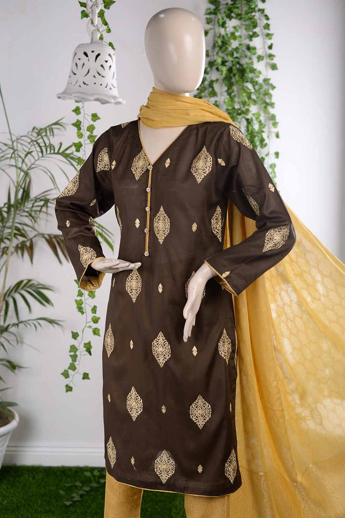 Delightful Affair (RM-1B) | Embroidered Un-stitched Lawn Dress with Cotton Banarsi Trouser & Lawn Banarsi Dupatta