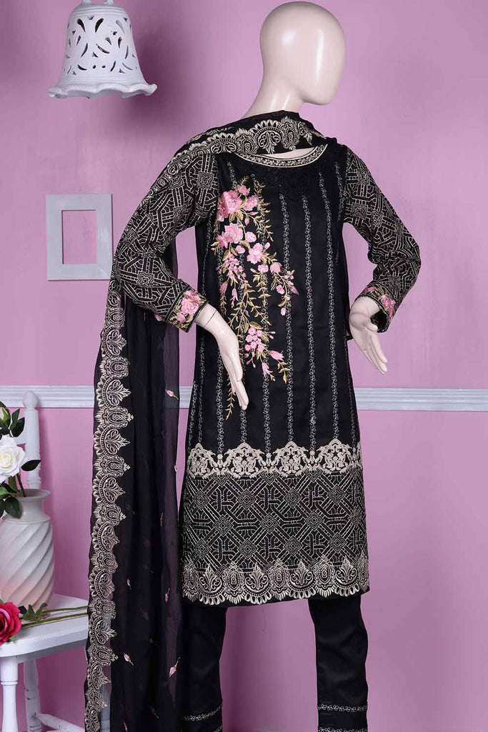 Estella (BZ-5A) | Embroidered Un-stitched Cambric Dress with Chiffon Dupatta |