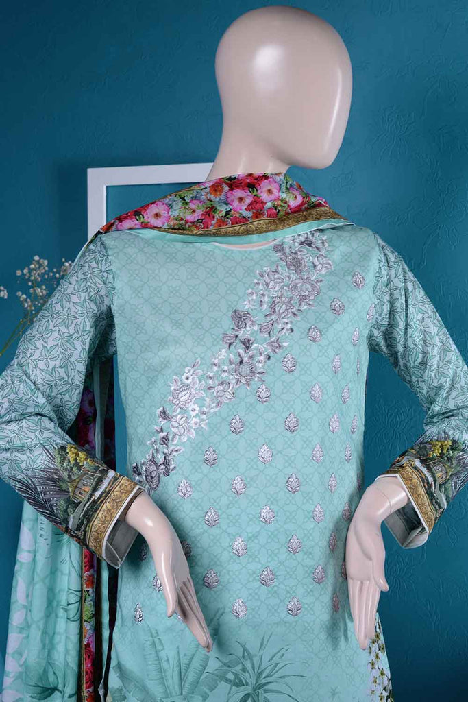 Digital Un-stitched Embroidered Lawn (FN-05) Efflorescence