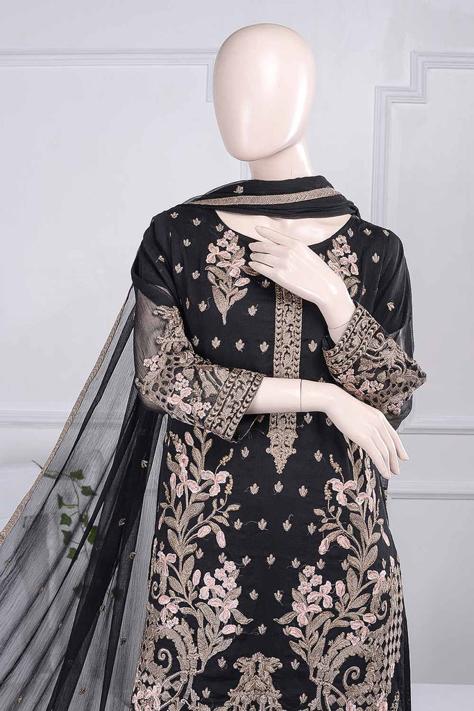 Blithesome (G5-3A) | Embroidered Un-stitched Chiffon Dress with Embroidered Chiffon Dupatta
