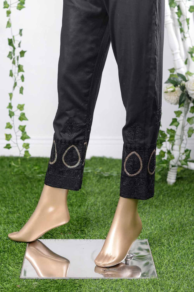 Cambric Embroidered Trouser | Roxanne (GP-4C)