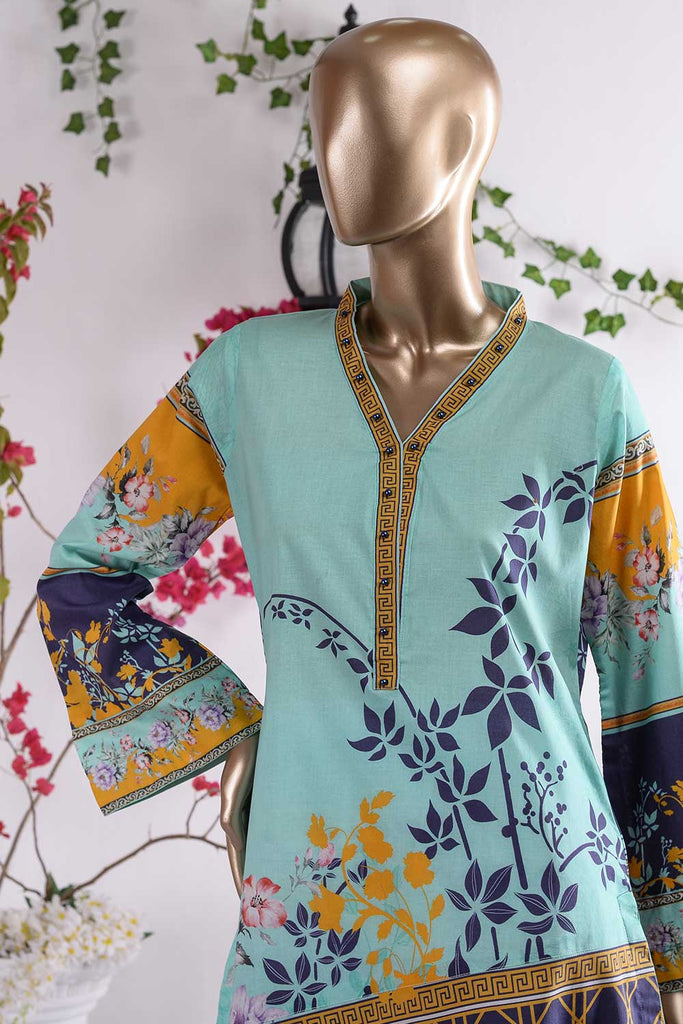 Abstract Intensity (PR3-04) 1 Pc Lawn Digital Printed Kurti