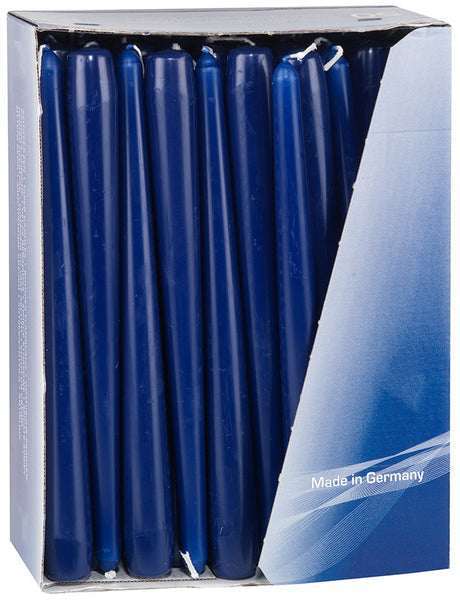 10 Inch Dark Blue Tapered Dinner Candles (200 Candles)