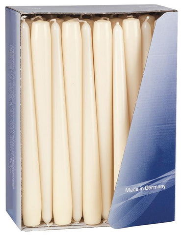 10 Inch Ivory Tapered Dinner Candles (200 Candles)
