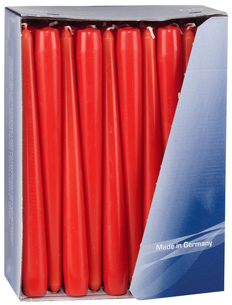 10 Inch Red Tapered Dinner Candles (200 Pack)