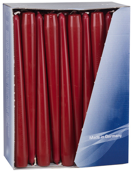 10 Inch Wine Tapered Dinner Candles (200 Pack)
