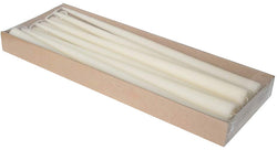 15 Inch Ivory Tapered Candles (2 Packs of 12)