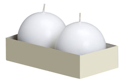 70mm Ball Candles White (10 Packs of 2)