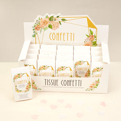 Tissue Paper Confetti - White & Pink (20 Packs)