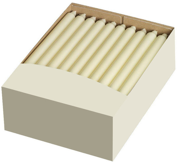 12 Inch Ivory Straight Candles (50 Candles) Only 1 case available!