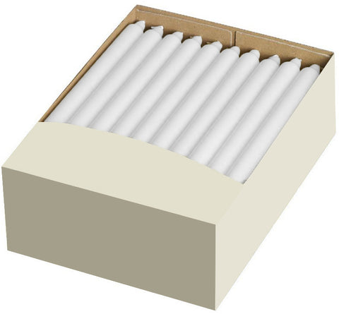 12 Inch White Straight Candles (100 Pack)