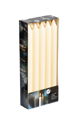 9.5 Inch Ivory Straight Candles (60 Candles)