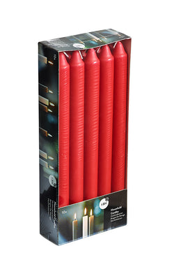 9.5 Inch Red Straight Candles (60 Candles)