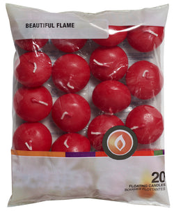Floating Candles Wine Red (16 Packs of 20)