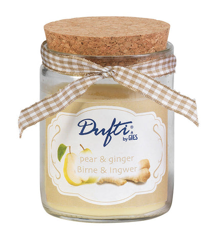 Dufti Pear & Ginger Jar Candles (x4)