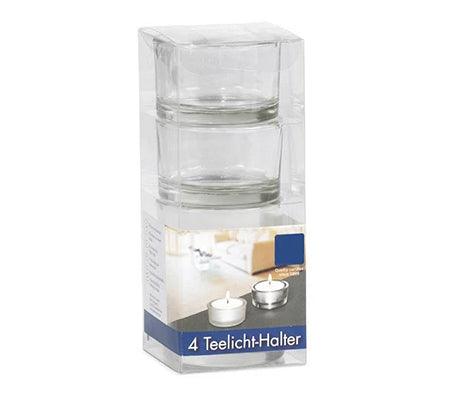 Glass Nightlight Holders Clear (Pack of 24)