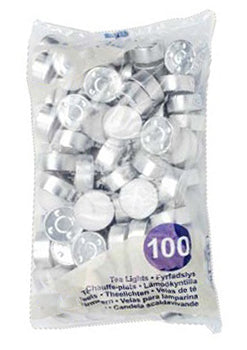 4 Hour Burn Tea Lights 100 Pack (Box of 1000)