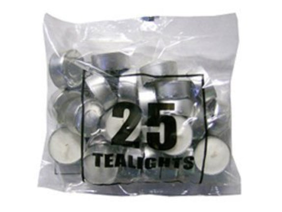 4 Hour Burn Tea Lights 25 Pack (Box of 800)