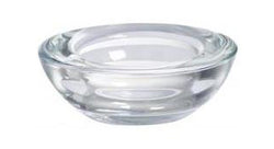 Round Glass Tea Light Holders Clear (Pack of 6)