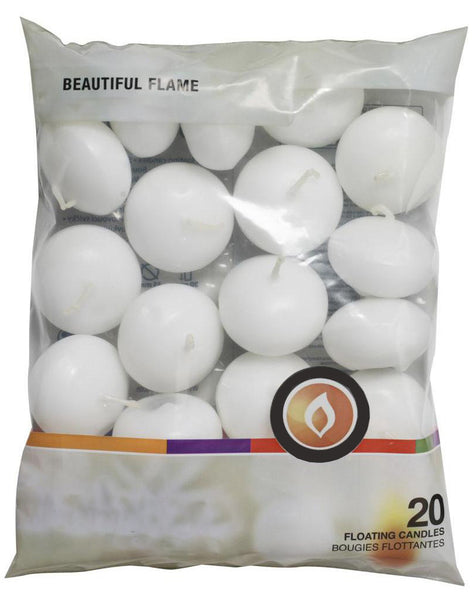 Floating Candles White (16 Packs of 20)