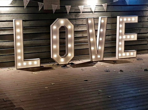 Giant 4ft LOVE Letters Hire