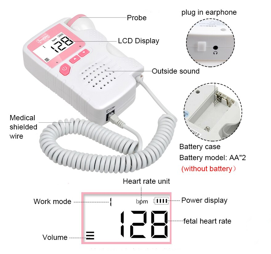 Portable Baby Heart Rate Detector