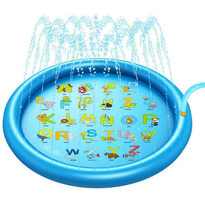 Children outdoor play water spray mat