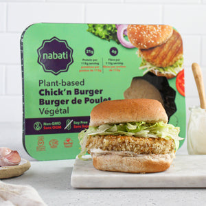 Nabati Plant-Based Chick'n Burger