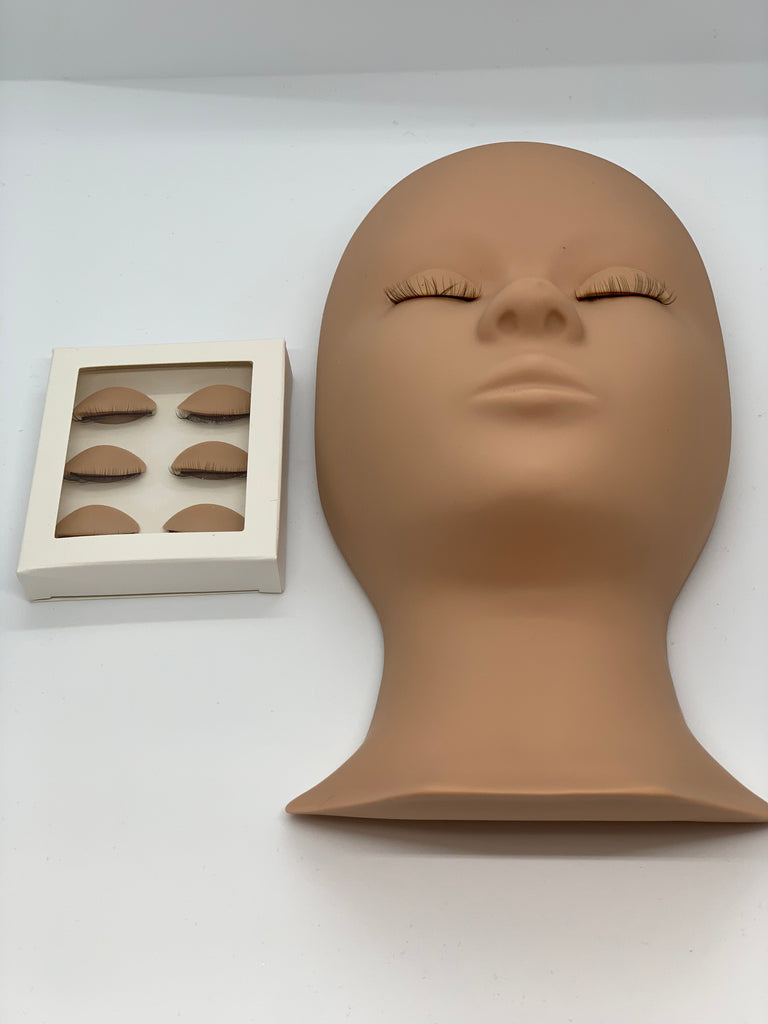 Removable Lashes Practice Mannequin Head